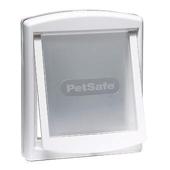 Staywell Small Dog/Cat Door + Lock Panel - White