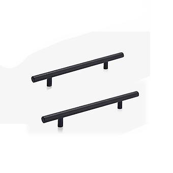2PCS European Style Aluminum Cabinet Pulls Black 200mm