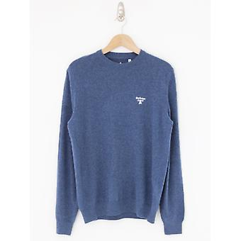 Barbour Beacon Logo Crew Neck Knit - Azul Náutico