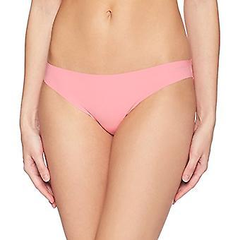 Brand - Mae Women's Sueded Lace Back Brazilian, 3 Pack, Stonewash/Pale Pink/Pink Lemonade, Medium