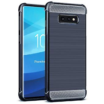 Single-Colored Carbon Fiber Shell for Samsung Galaxy S10 Lite Mobile Shell Rubber Matte Navy