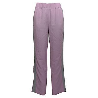 Cuddl Duds Women's Lounge Pants Tuxedo Stripe Purple A373500