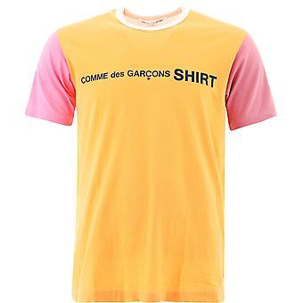 Comme Des Garçons Shirt W281201 Heren's Multicolor Katoen T-shirt