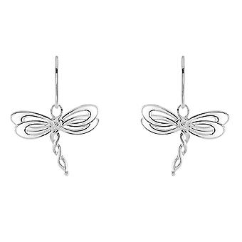 Heritage Sterling Silver Celtic Creatures Dragonfly Drop Earrings 6254HP