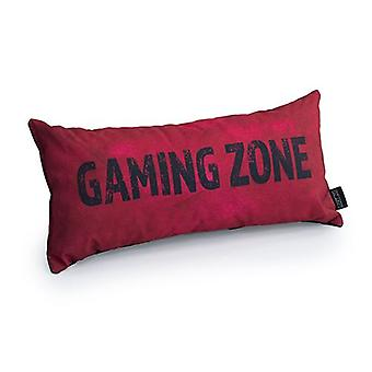Slogan da Zona de Jogo - Vermelho | Almofada para Jogos | Migalha de espuma enchida | Resistente à água | Roupa de cama e sofá | Home D cor