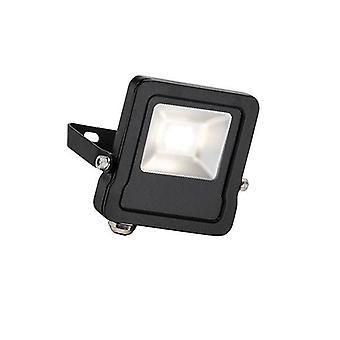 Integrated LED Outdoor Wall Flood Light Matt Black, Glass IP65