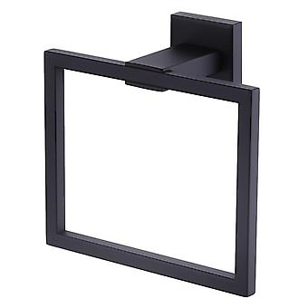 Stainless Steel Home Towel Holder Storage Rack - Square Shape Wall Mounted Towel Hanger Towel Ring Bathroom Accessories