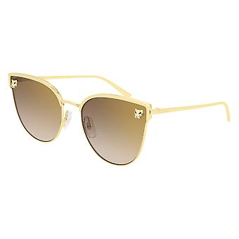 Cartier CT0198S 002 Gold/Brown-Gold Mirror Sunglasses