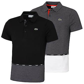 Lacoste Mens Sport Two-Tone Contrast Paneled Lightweight Cotton Polo Shirt