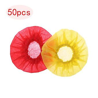 50pairs Disposable Non-woven Microphone Cover Windscreen Protective Mic Cap Pad For Ktv Karaoke Supplies