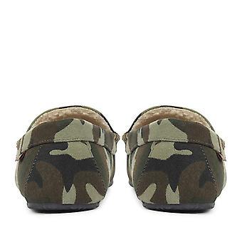 Ralph Lauren Mens Camouflage Moccasin Slipper