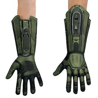 Master Chief Halo Army Video Games Book Week Adult Mens Costume Gloves