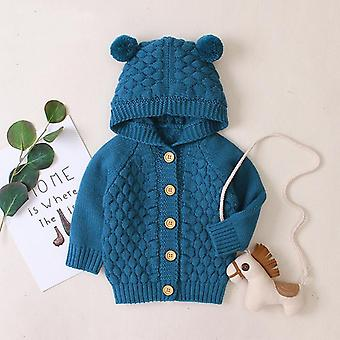 Autumn Infant Hooded Knitting Jacket For Baby Clothes - Newborn Coat For Baby Boys Girl Jacket Winter Kids Outerwear Coat