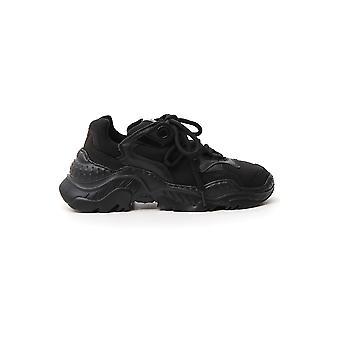 N°21 00119fws00110009n001 Women's Black Fabric Sneakers