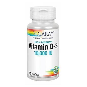 ソラライビタミンD-3、10,000 IU、60キャップ