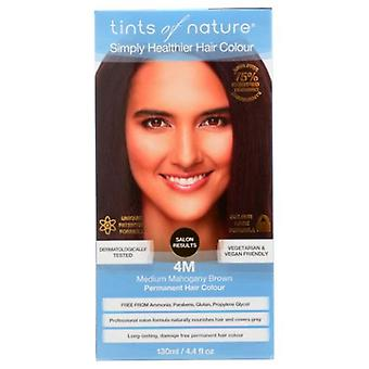 Tints of Nature Permanent Hair Color, 4M Medium Mahogany Brown 4.4 Oz
