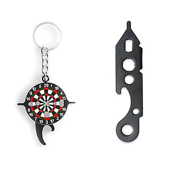 2pcs Keychain Dart Wrench Tool- Tighten Darts Shafts Beer Bottle Opener Indoor