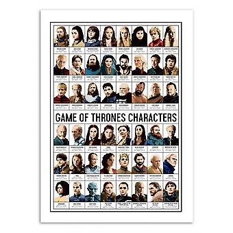 Art-Poster - Game of Thrones Personages - Olivier Bourdereau