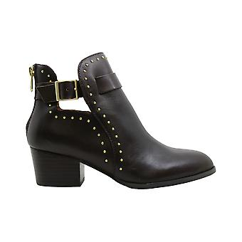 Adrienne Vittadini Womens ranno Leather Almond Toe Ankle Fashion Boots
