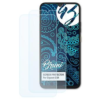 Bruni 2x Screen Protector compatible with Gigaset GS4 Protective Film