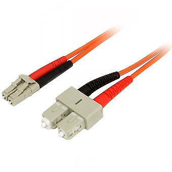 Startech.com 1m fiberoptisk kabel - multimode duplex 50/125 - lszh - lc/sc - om2 - lc til sc fiber pa