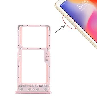 SIM-kortin lokero + SIM-korttilokero / Micro SD -korttilokero Xiaomi Redmi 6 / Redmi 6A (Ruusukulta)