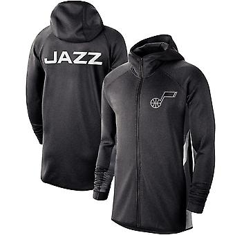 Utah Jazz Heather Showtime Therma Flex Performance Full Hoodie Top WY122