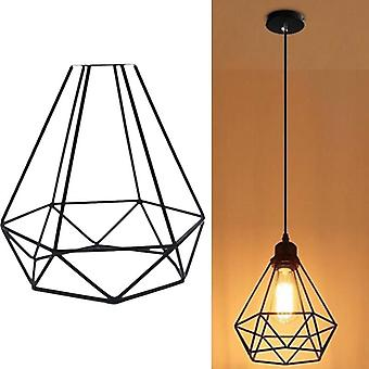 Retro Pendant Light Lampshade-decorative Cage Shape Frame