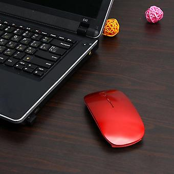 Ultra dunne Usb Optical Wireless Mouse 2.4g Receiver Super Slim Mouse Draadloos