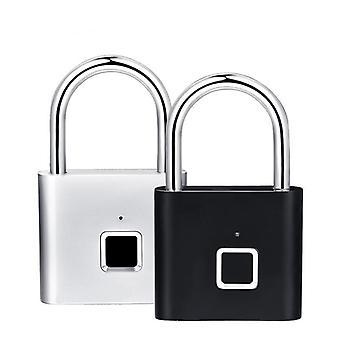 Usb ricaricabile senza chiave, serratura per lucchetto intelligente per impronte digitali
