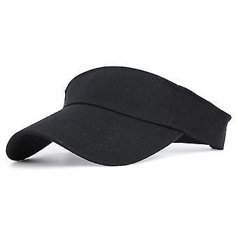 Sports Sun Cap And Adjustable Cotton Visor Uv Protection Top Empty Tennis Golf
