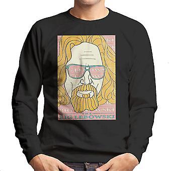 The Big Lebowski Retro Ink Lines Mænd's Sweatshirt