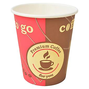 1000 pcs. disposable coffee cup cardboard 240 ml (8 oz)