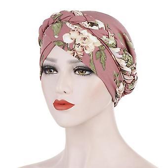 2020 Bohemia Print Muslim Turban Scarf Islâmico Inner Hijab Caps Arab Wrap Head