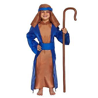 Henbrandt children's shepherd christmas presivity fantasia fantasia fantasia (pequeno / 4-6 anos)