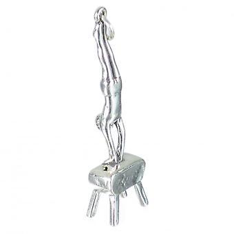 Male Gymnast Sterling Silver Charm - Pendant .925 X 1 Charms Gymnastics - 1219
