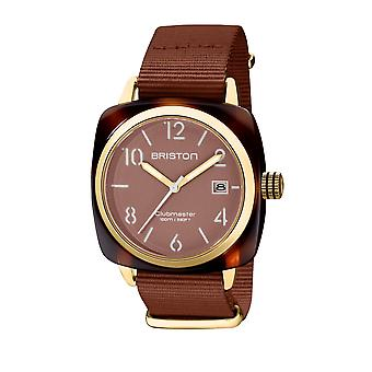 Briston 20240.PYA.T.37.NTCH Clubmaster Classic Acetate Wristwatch Brown