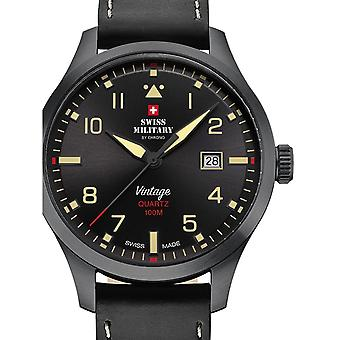 Herre Watch schweiziske militær ved Chrono SM34078.08, Quartz, 43mm, 10ATM