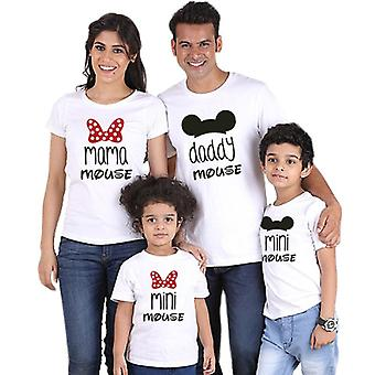 Daddy Mommy And Me Family T-shirt Mini Mouse Cartoon Matching Outfits Look