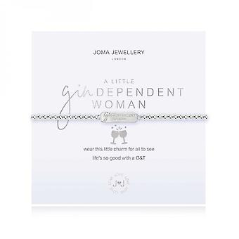 Joma Jewellery A Little Gindependant Woman Silver 17.5cm Stretch Bracelet 3884
