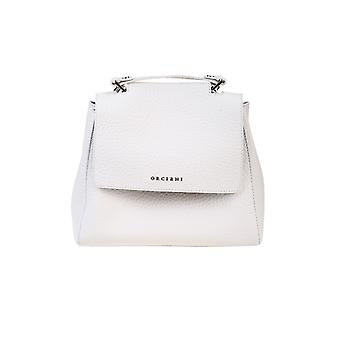 Orciani B01999softbianco Women's White Leather Handbag