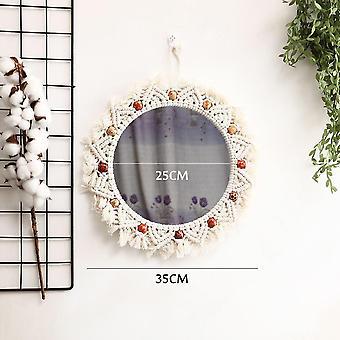 Handmade Macrame Wall Hanging Tapestry Mirror