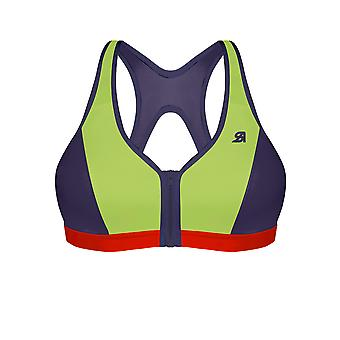 Active Zipped Medium Impact Sports Bra
