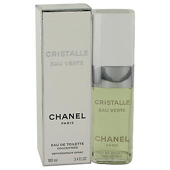 Cristalle eau verte eau de toilette concentree spray by chanel 532718 100 ml