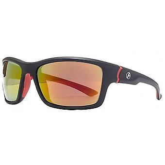 Freedom Square Wrap Rubber Detail Sunglasses - Matte Black
