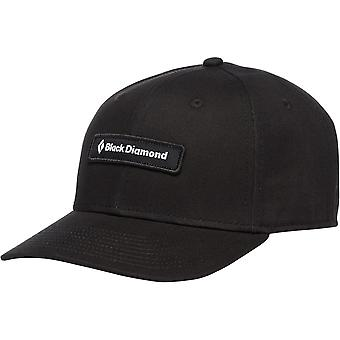 Sombrero de etiqueta negra de diamantes negros - negro