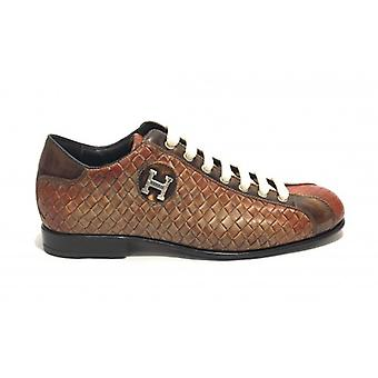 Men's Shoes Harris Bottom Soccer Leather Weave Taupe/ Dadino Ocra/ Shade Lino U17ha113