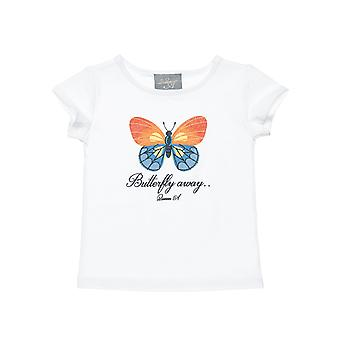 Alouette Girls' T-Shirt With Butterfly Design From Glitter