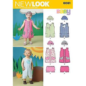 New Look Sewing Pattern 6061 Babies Infant Dress Overalls Size A NB-L