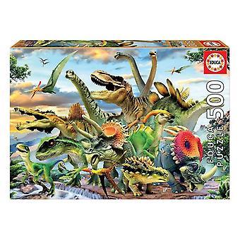 Puzzle Educa Dinosaurs 500 Pieces